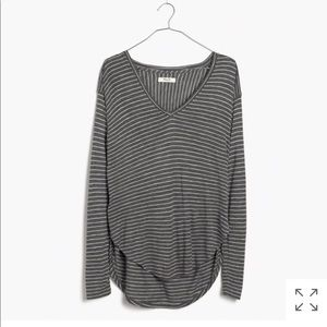 Flowy, striped Madewell shirt
